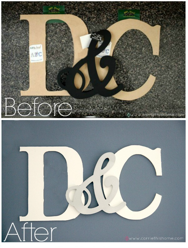 How to make your own monogram.  This project cost less than 10!