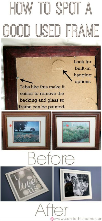 How to spot a good used frame on the cheap.  Great tips!