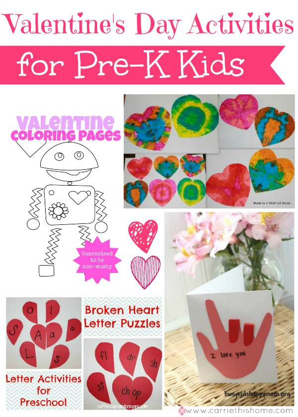 Valentine 39 s day activities for pre k kids for Valentines day toddler crafts