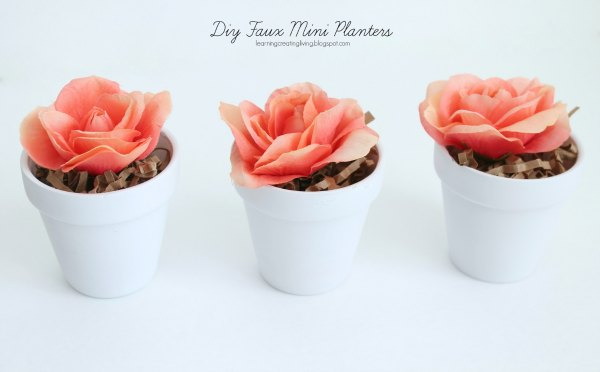 DIY faux mini planters