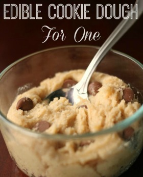 Edible cookie dough for one for sidebar