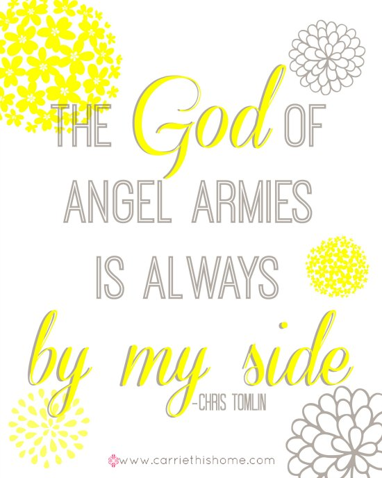 God of Angel Armies Free Printable! Love this song!