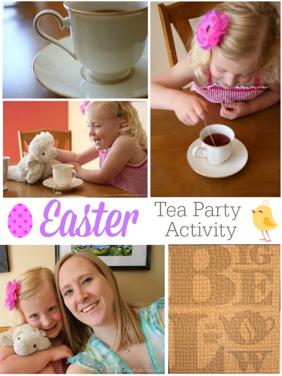 Easter Tea Party Activity. A fun and easy way to spend some quality time with your little ones! #shop #AmericasTea