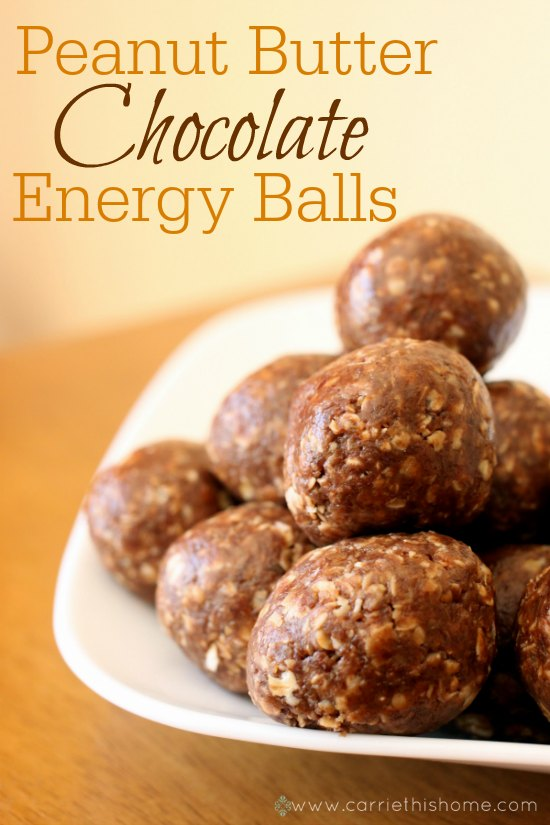 Peanut Butter Energy Balls. Must make these NOW!