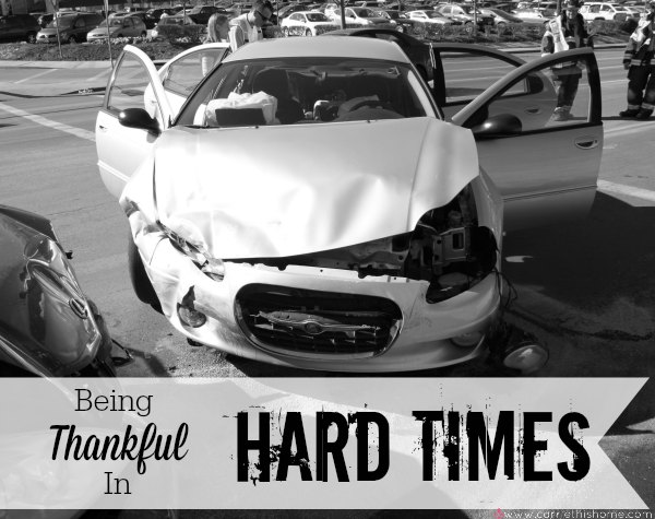 Why I'm Thankful for Hard Times