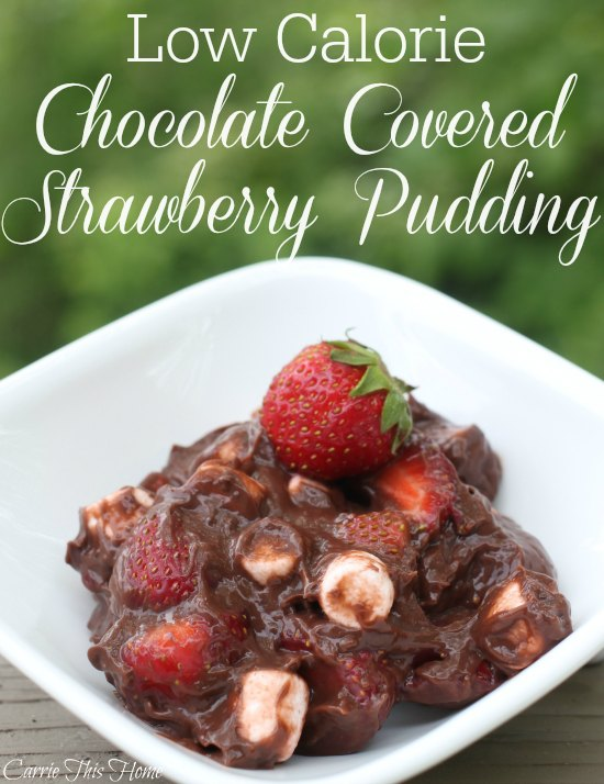 This Chocolate Covered Strawberry Pudding is a great way to get a chocolate fix without compromosing your diet! Super easy to make and tastes heavenly!