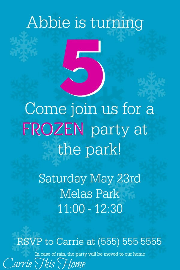 How to make your own Frozen Inspired Birthday Party Invitation