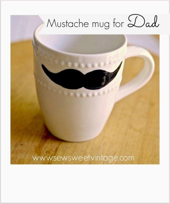 mustache mug polaroid