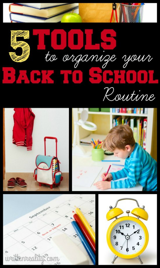 5 tools to organize your back to school routine