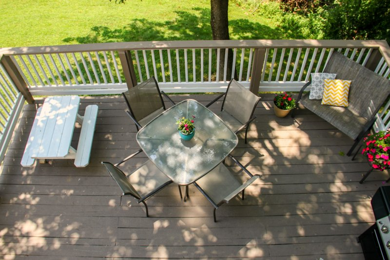 Restore Deck Paint made a big difference in this budget deck makeover!