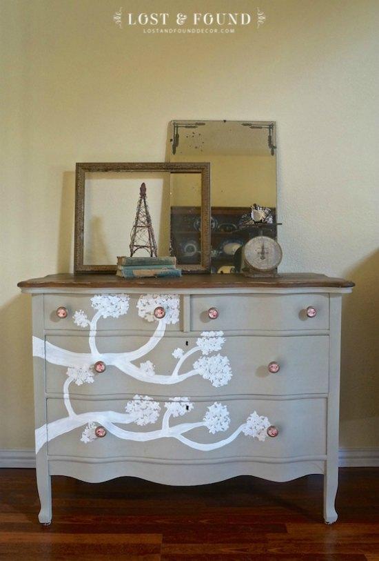 Rustic Oak Dresser Makeover