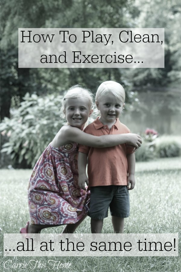 Do you struggle with getting everything done while spending enough time with your kids? This is a must read for parents who want to learn a simple multi-tasking trick! How to play with the kids, clean and exercise at the same time!