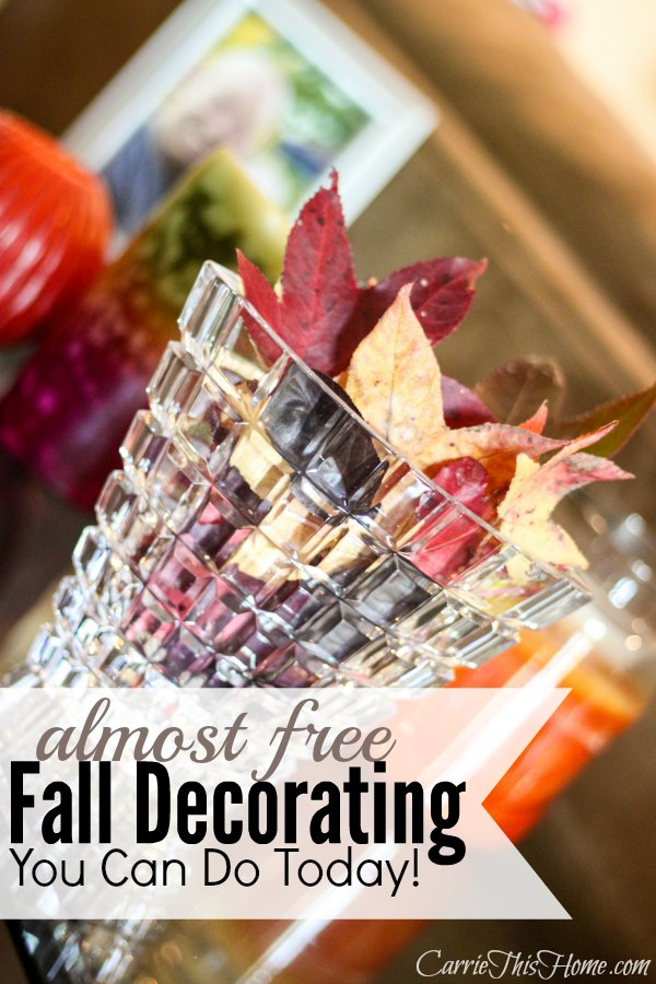 Sometimes decorating doesn't mean going out shopping. It means re-inventing items you already have. Today I'm sharing a my fall home tour and I'll show you how you can decorate for Fall without spending much money!