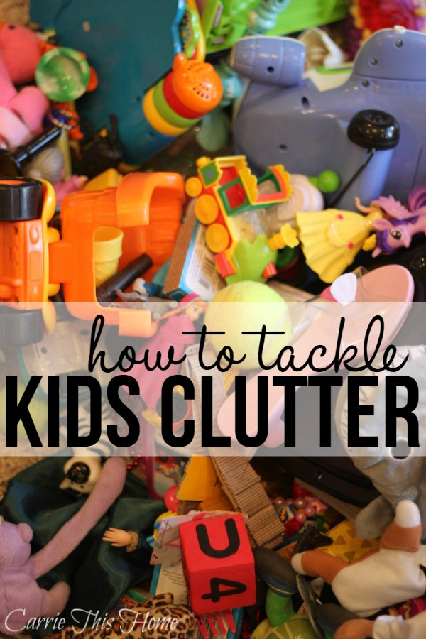 I've noticed a disturbing trend in my home. We have toy clutter everywhere! If you're in the same boat don't worry. This post will show you how to tackle kids clutter and make your home a fun and peaceful place for your family!
