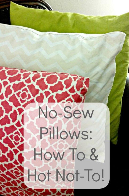 DIY no sew pillows