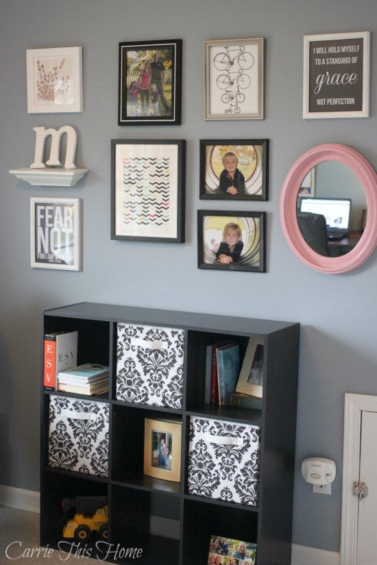 Office Gallery Wall with storage unit