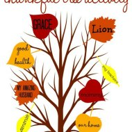 Thankful Tree Activity {Free Printable}