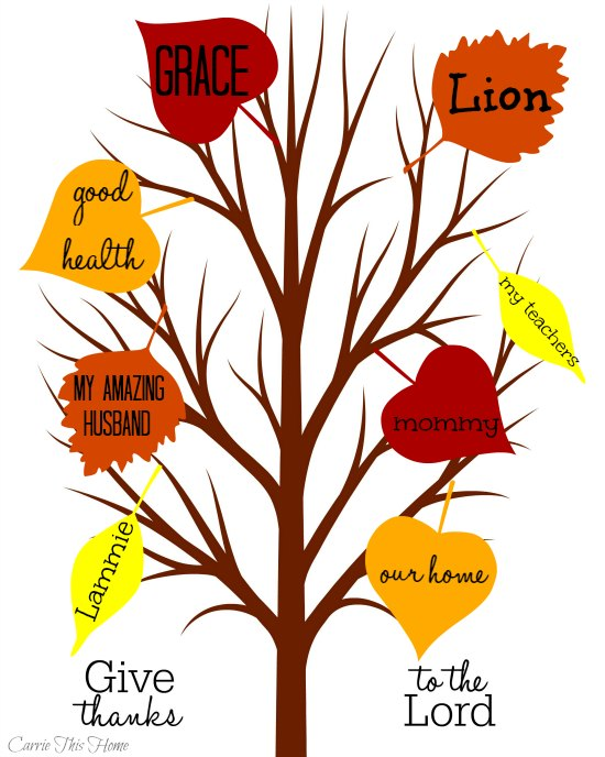 Thankful Tree Activity helps teach kids thankfulness!