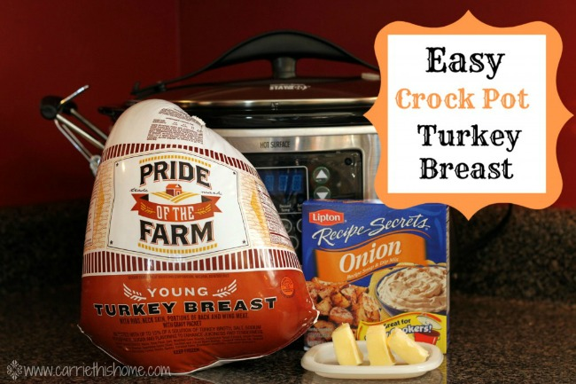 This is by far the easiest way to cook a turkey!  Crock Pot Turkey Breast