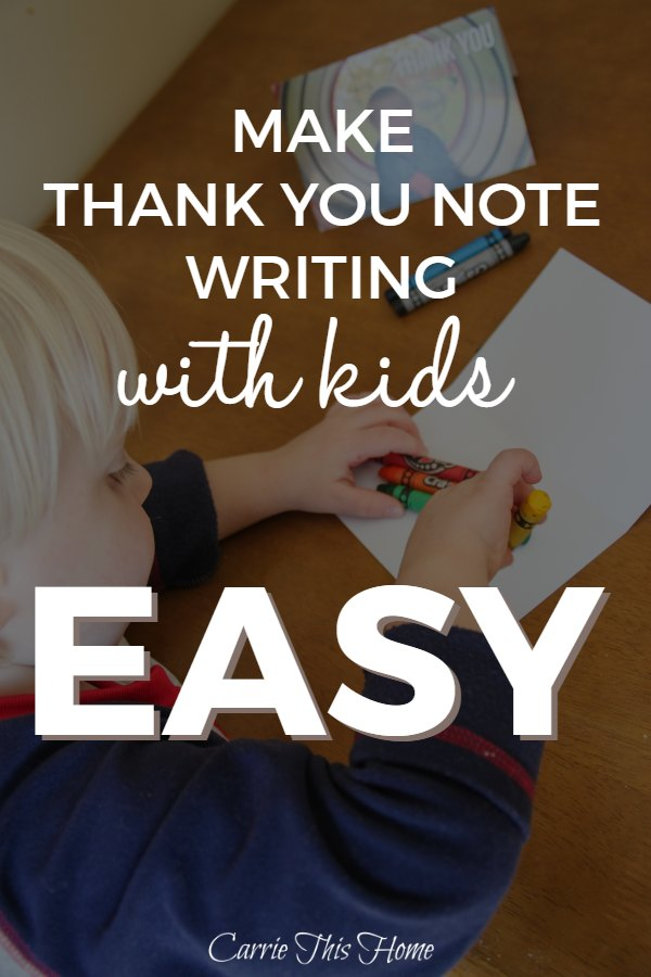 Writing thank you notes helps foster thankfulness in children while providing a fun activity you can do together! These quick & easy tips will help make thank you note writing easy and fun!