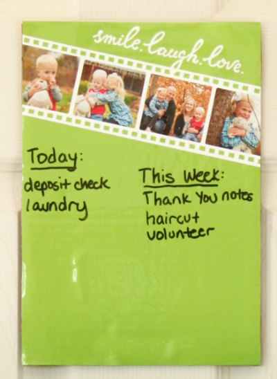 Using a dry erase board will help you keep on task!