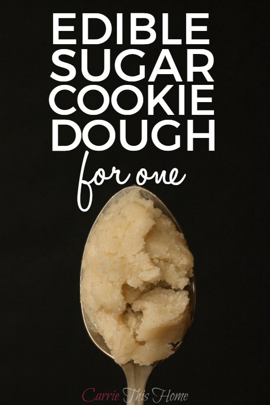 You can safely enjoy some sugar cookie dough without worries of eating raw eggs or feeling too guilty! Edible Sugar Cookie Dough will safely satisfy your sweet tooth!