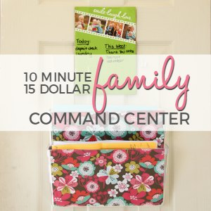 Setting up a family command center can help you keep track of everything and save your sanity!