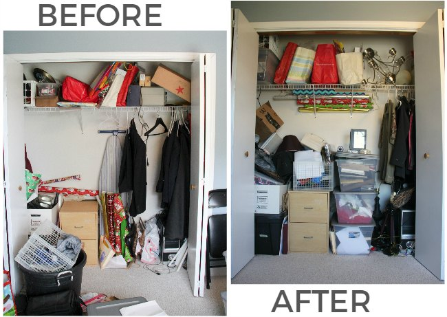 Take advantage of vertical space in closets!