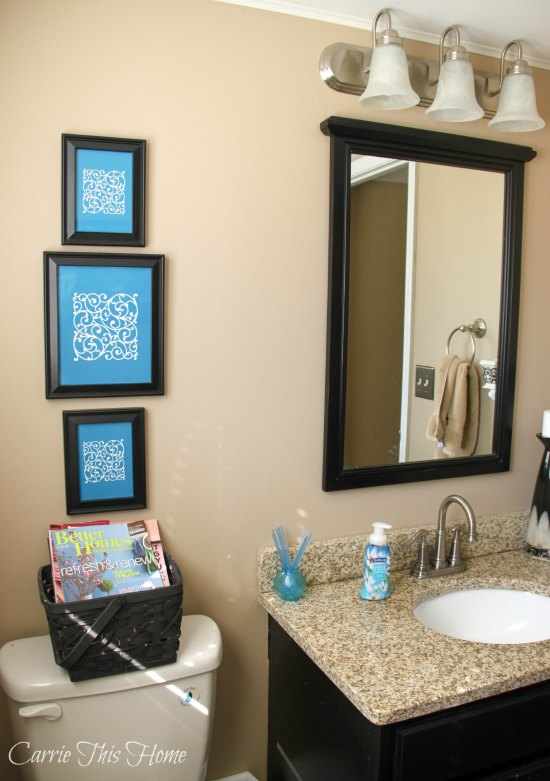 Bathroom after Softsoap Premium makeover and printables