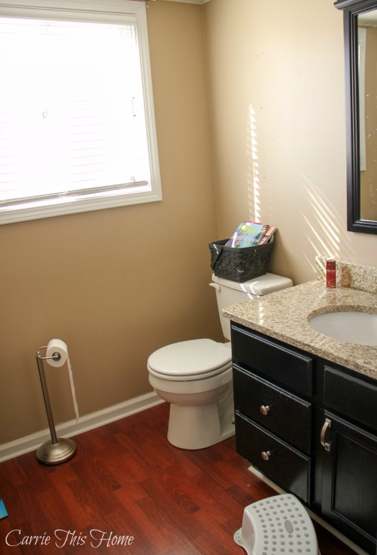 Bathroom before sofsoap and printable makeover