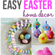 Easy Easter Home Decor {Frugal Crafty Home Blog Hop #120}