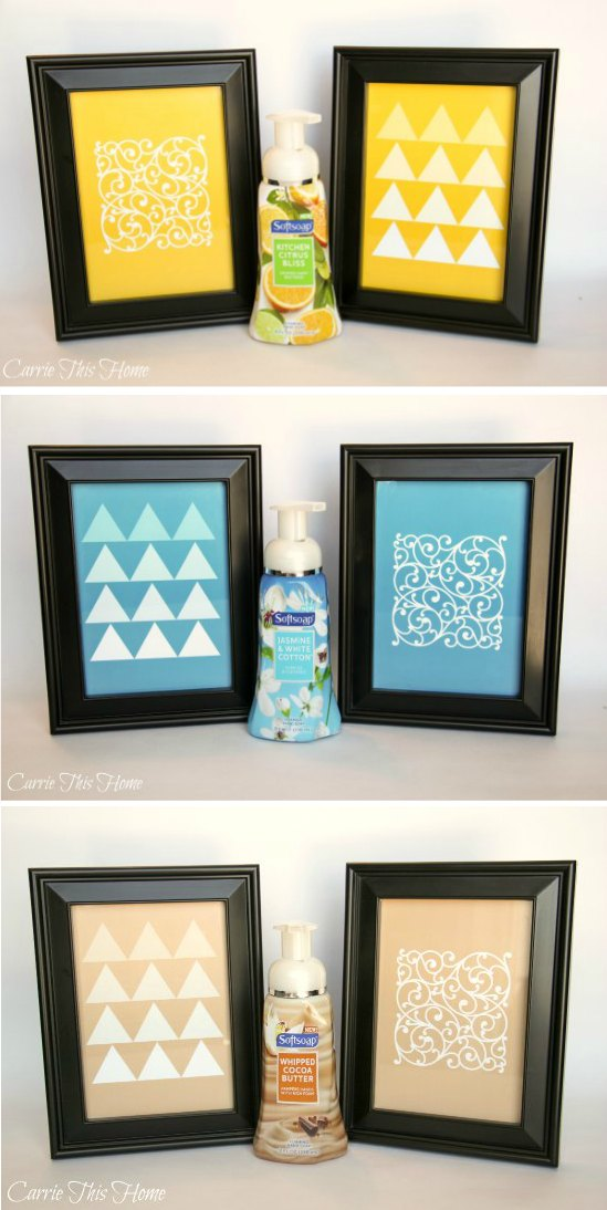 Use these free printables and Softsoap to transform the look of your bathroom in minutes!