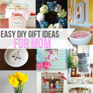 Easy DIY Gift Ideas For Mom {Frugal Crafty Home Blog Hop #125}