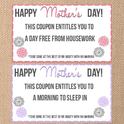 New mothers day coupon featured