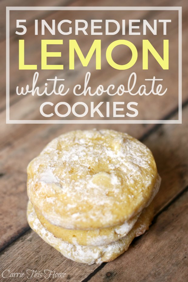5 Ingredient lemon and white chocolate cookies