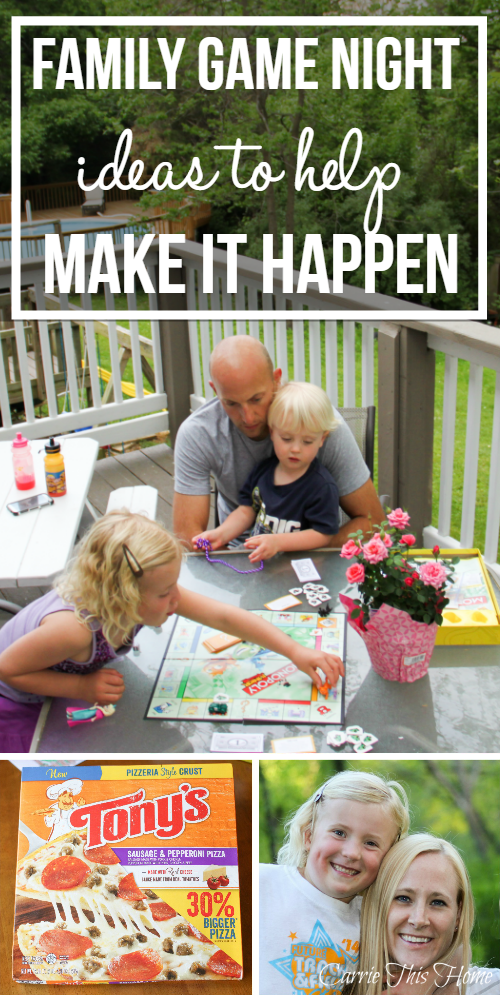 Great post sharing a couple great & easy ideas to help make family game nights happen more often with your family! #BigPizzeriaTaste #Pmedia #ad