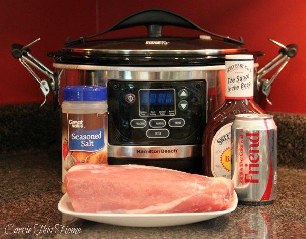 Super easy 5 ingredient sweet + savory barbeque pork