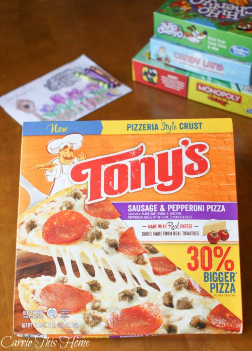 Tony's Pizza makes family game night fun and easy!