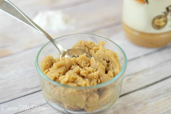 Yes! This small batch edible peanut butter cookie dough is perfect for a small sweet treat you can share!