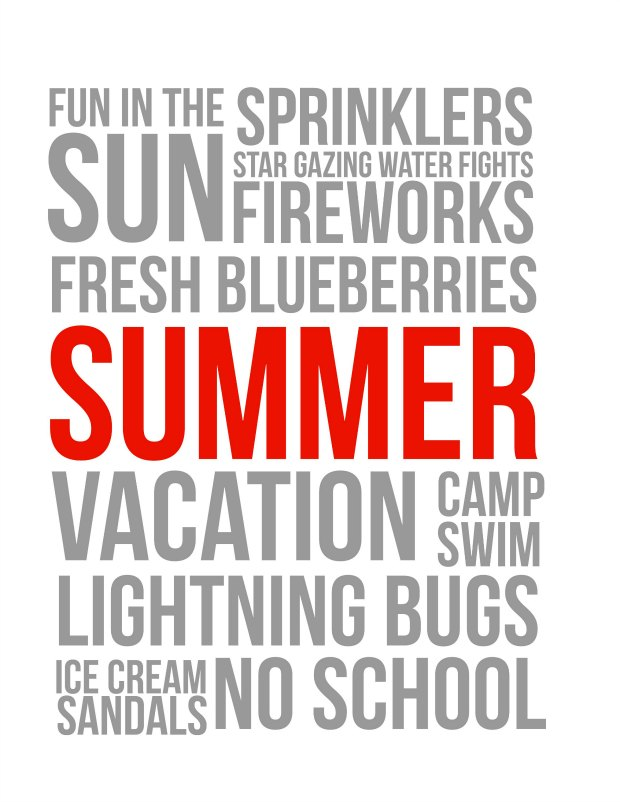 Summer Fun Free Printable Red (for personal use only)