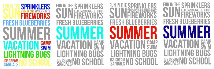 Summer Fun Free Printables red navy blue turquoise and mulit color