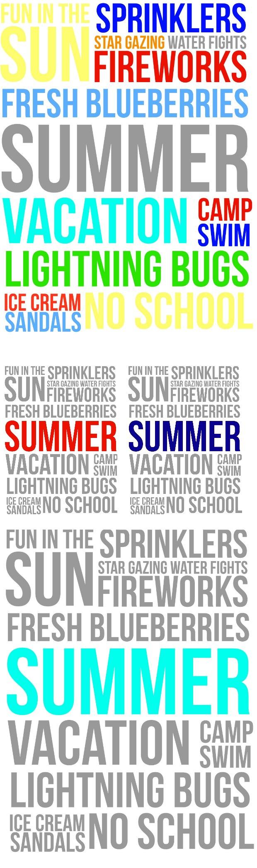 Summer Fun Free Printables