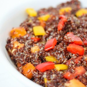 Sweet & Tangy Red Quinoa Salad