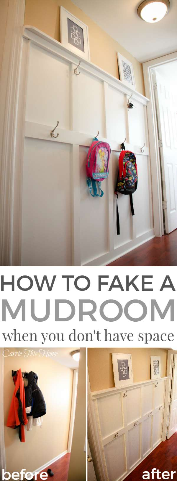 This is a must read if you're in need of storage solutions! How to fake a mudroom when you don't have the space