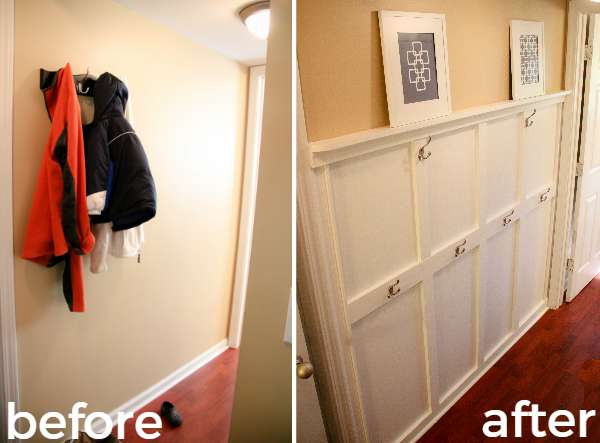 before and after mudroom makeover How To Fake A Mudroom
