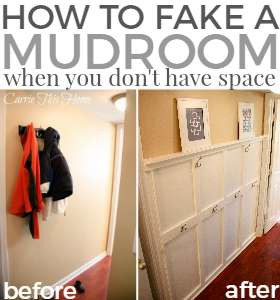 How To Fake A Mudroom {When You Don't Have The Space}