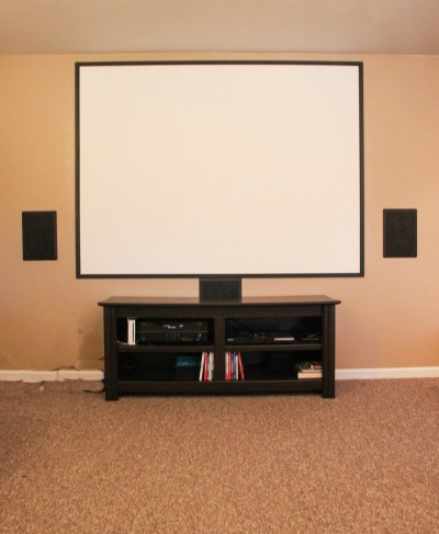 DIY home movie theater screen directions