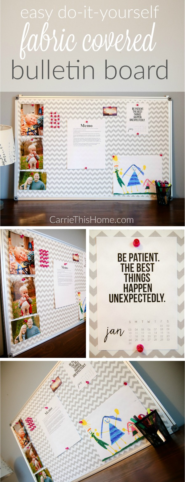 Love how this super cute bulletin board keeps important papers and photos right where you want them!