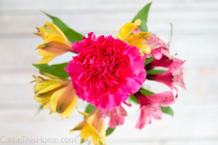 Flowers will brighten up anyone's day!