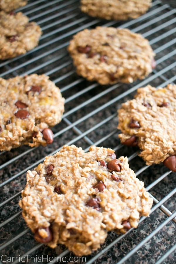 These 3 Ingredient Breakfast Cookies smell AMAZING while they're baking! They're so delicious you won't notice they're healthy! 3 Ingredient Breakfast Cookies
